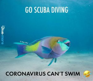 corona virus can't swim